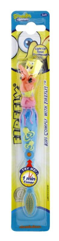 VitalCare SpongeBob zubná kefka pre deti s blikajúcim časovačom soft