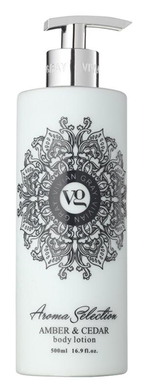 Vivian Gray Aroma Selection Amber & Cedar Body Lotion