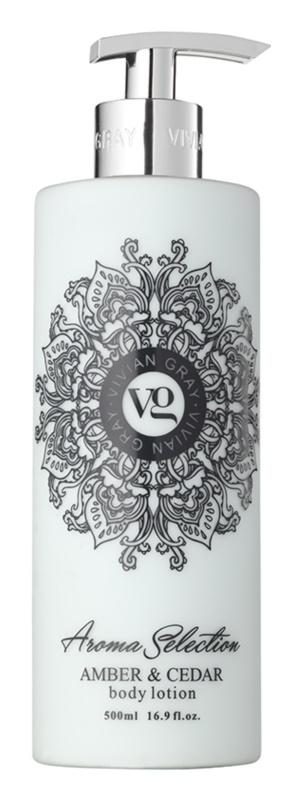 Vivian Gray Aroma Selection Amber & Cedar tělové mléko
