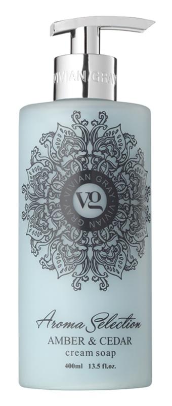 Vivian Gray Aroma Selection Amber & Cedar Cream Liquid Soap