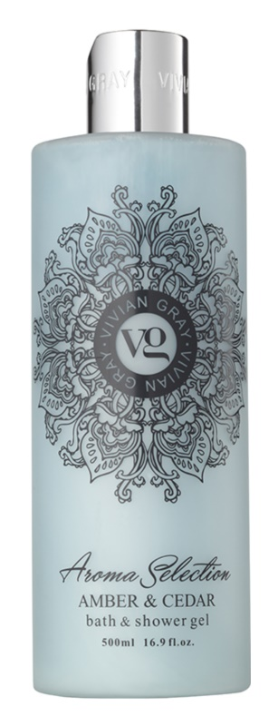 Vivian Gray Aroma Selection Amber & Cedar gel de dus si baie