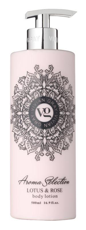 Vivian Gray Aroma Selection Lotus & Rose telové mlieko