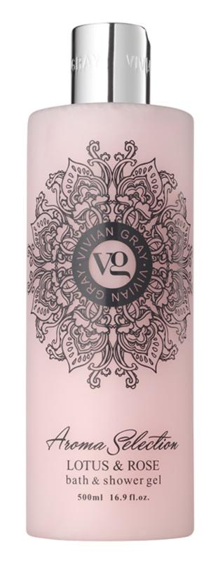 Vivian Gray Aroma Selection Lotus & Rose gel de dus si baie