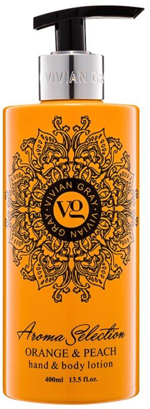 Vivian Gray Aroma Selection Orange & Peach Lapte de mâini și de corp