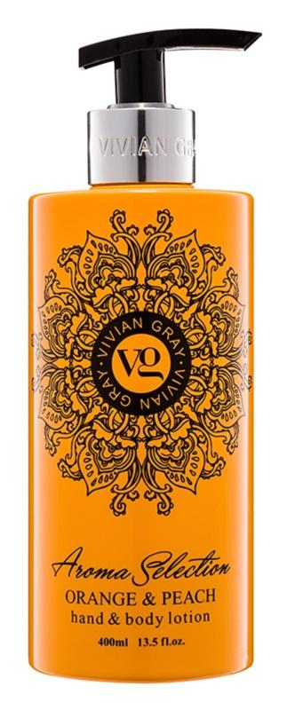 Vivian Gray Aroma Selection Orange & Peach mléko na ruce a tělo