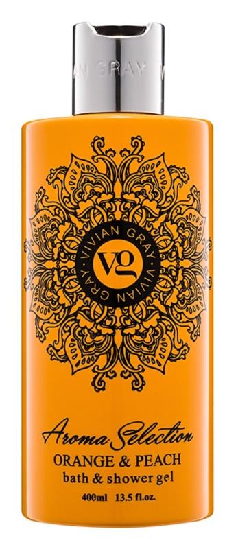Vivian Gray Aroma Selection Orange & Peach gel za prhanje in kopanje