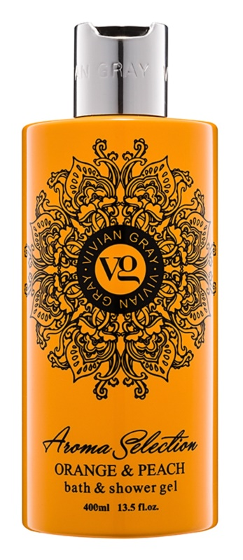 Vivian Gray Aroma Selection Orange & Peach Shower And Bath Gel