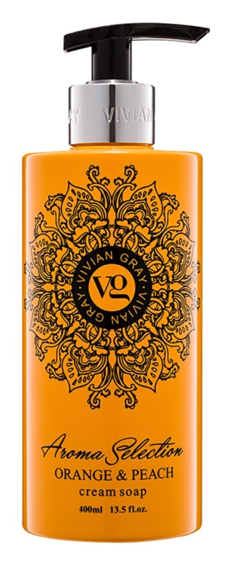 Vivian Gray Aroma Selection Orange & Peach Cream Liquid Soap