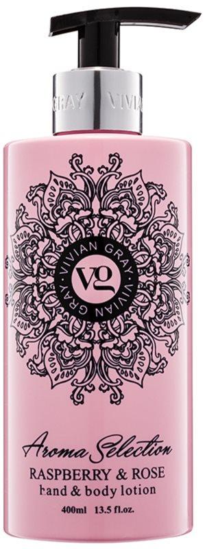 Vivian Gray Aroma Selection Raspberry & Rose mlieko na ruky a telo
