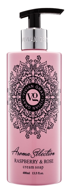 Vivian Gray Aroma Selection Raspberry & Rose Cream Liquid Soap