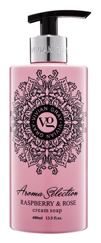 Vivian Gray Aroma Selection Raspberry & Rose flüssige Cremeseife