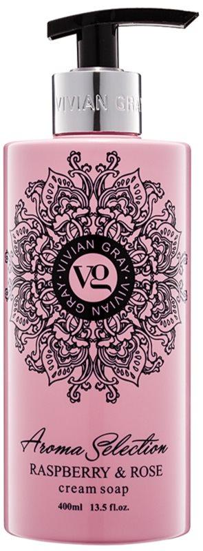 Vivian Gray Aroma Selection Raspberry & Rose krémové tekuté mýdlo