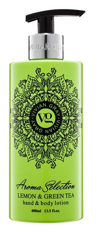 Vivian Gray Aroma Selection Lemon & Green Tea mléko na ruce a tělo