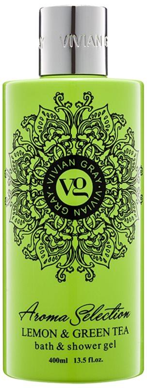 Vivian Gray Aroma Selection Lemon & Green Tea gel za prhanje in kopanje