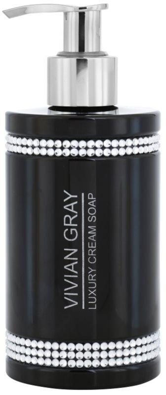 Vivian Gray Crystals Black krémové mydlo