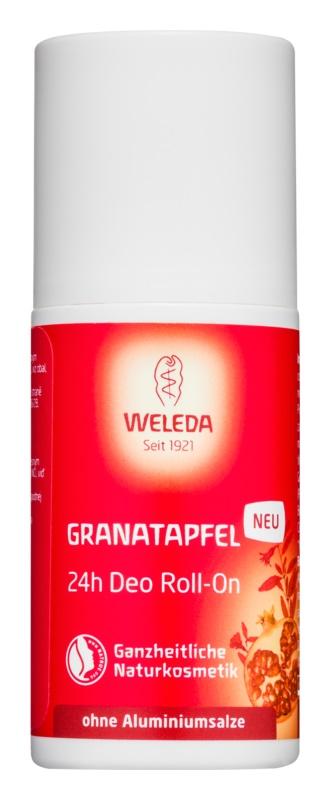 Weleda Pomegranate deodorant roll-on fără săruri de aluminiu 24 de ore