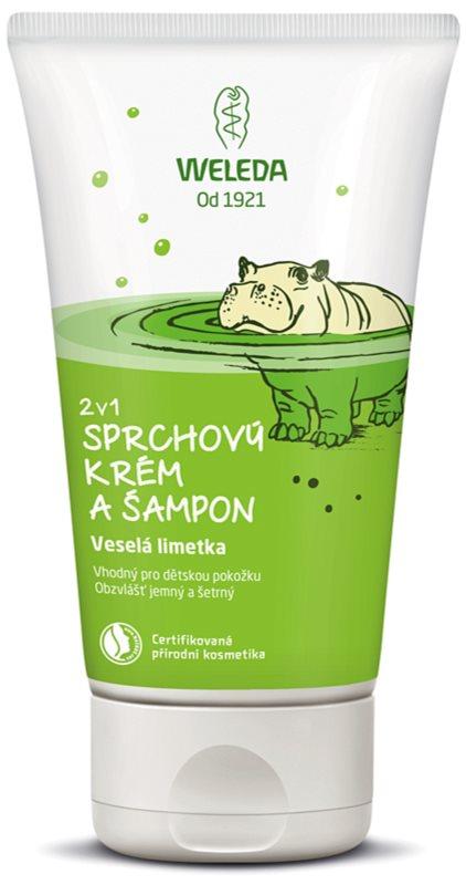 Weleda Kids Veselá limetka sprchový krém a šampón pre deti 2 v 1