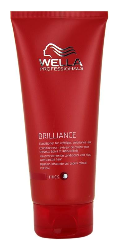 Wella Professionals Brilliance balzam za grobe in barvane lase