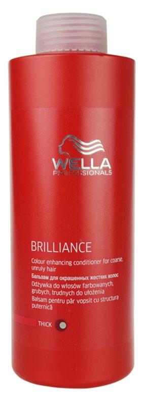 Wella Professionals Brilliance balsam pentru par aspru si vopsit