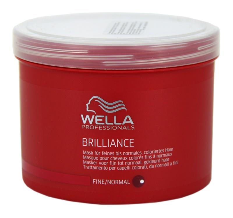 Wella Professionals Brilliance maska pre jemné, farbené vlasy
