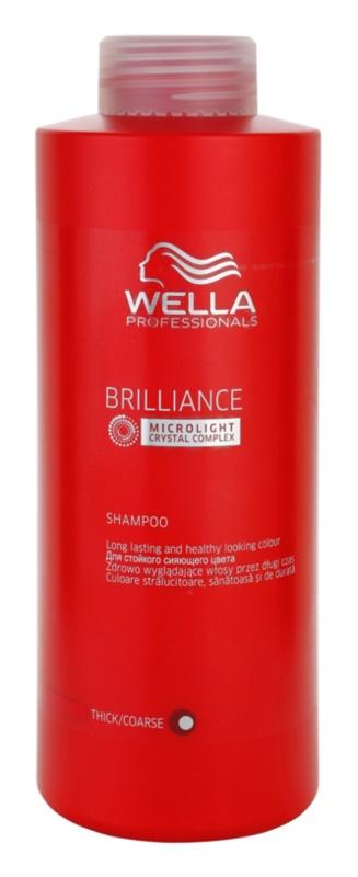 Wella Professionals Brilliance šampón pre hrubé, farbené vlasy