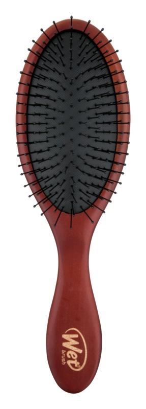 Wet Brush Detangle Naturals escova de cabelo de madeira resistente à humidade do ar