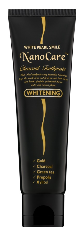 White Pearl NanoCare Whitening зубна паста з наночастинками золота та активованим вугіллям
