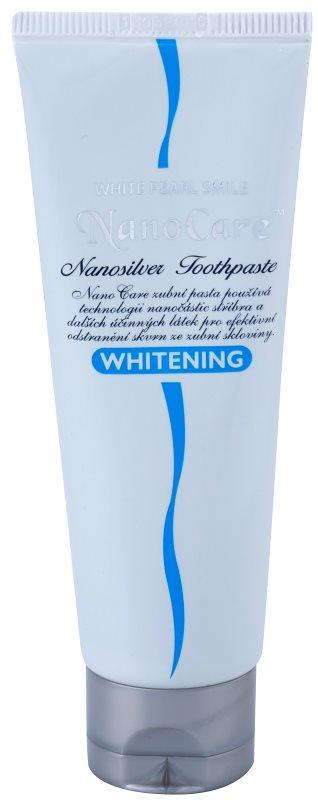 White Pearl NanoCare Whitening pasta de dientes con nanopartículas de plata contra las manchas en el esmalte dental