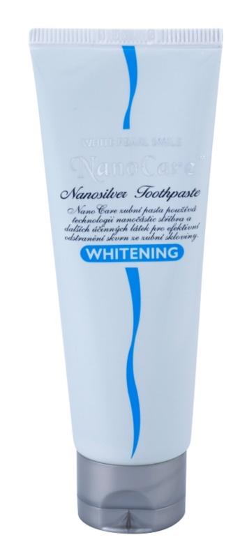 White Pearl NanoCare Whitening zubní pasta s nanočásticemi stříbra proti skvrnám na zubní sklovině