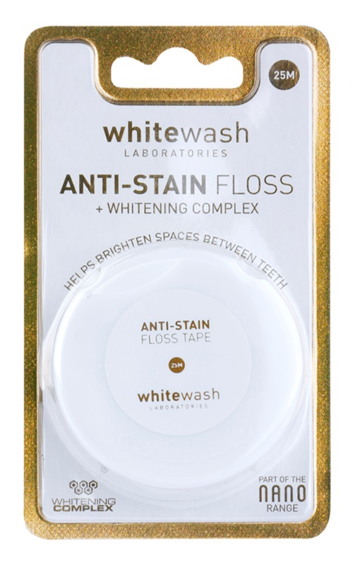 Whitewash Nano Anti-Stain hilo dental con efecto blanqueador