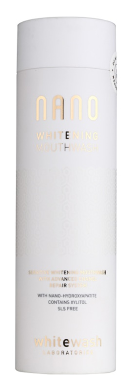 Whitewash Nano apa de gura pentru refacerea smaltului si albirea sigura