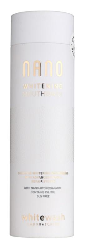 Whitewash Nano Mundwasser zur Erneuerung des Zahnschmelzes und für schonendes Bleichen