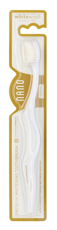 Whitewash Nano szczoteczka do zębów do zapobiegania i usuwania plam medium