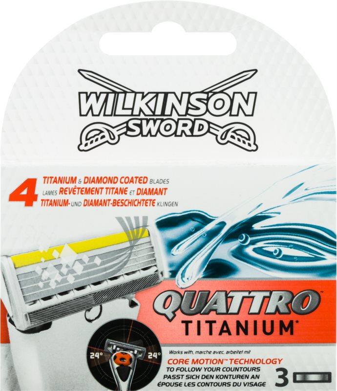 Wilkinson Sword Quattro Titanium Replacement Blades 3 pcs