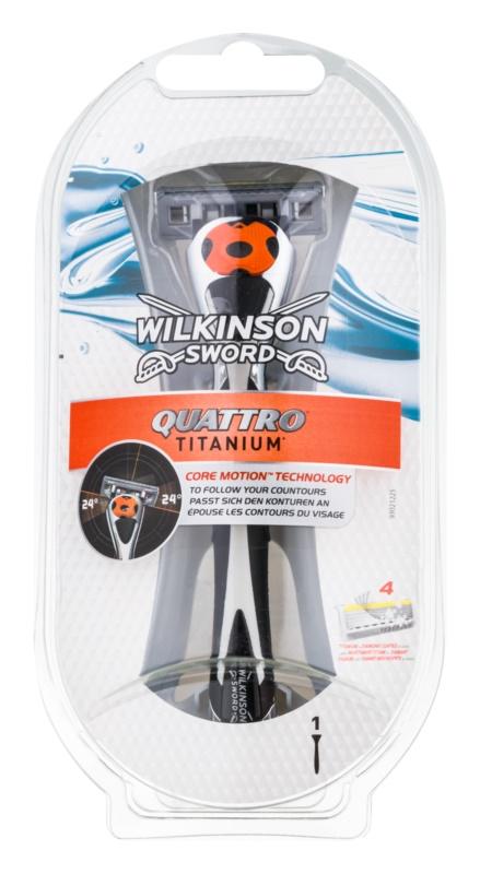 Wilkinson Sword Quattro Titanium holicí strojek