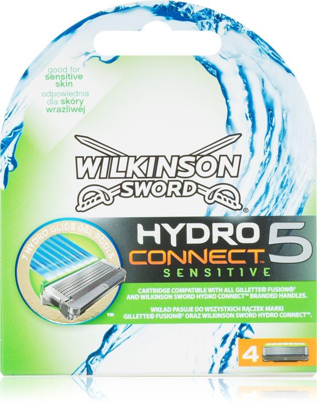 Wilkinson Sword Hydro Connect 5 náhradní břity pro citlivou pleť