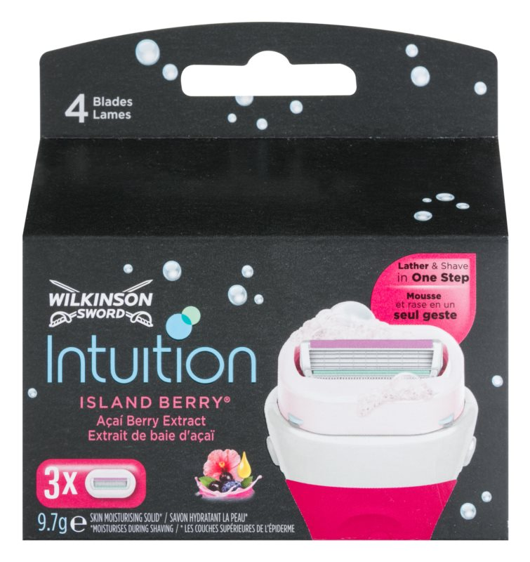 Wilkinson Sword Intuition Island Berry Replacement Blades 3 pcs