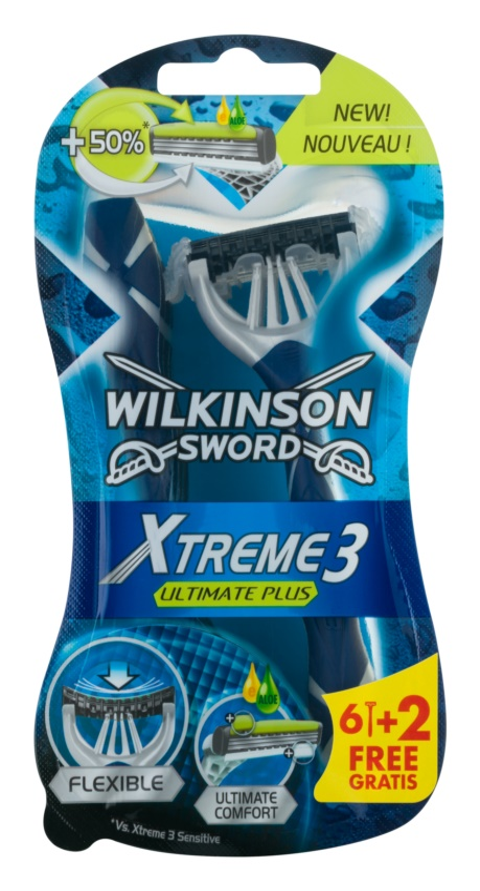 Wilkinson Sword Xtreme 3 Ultimate Plus jednorázová holítka 8 ks