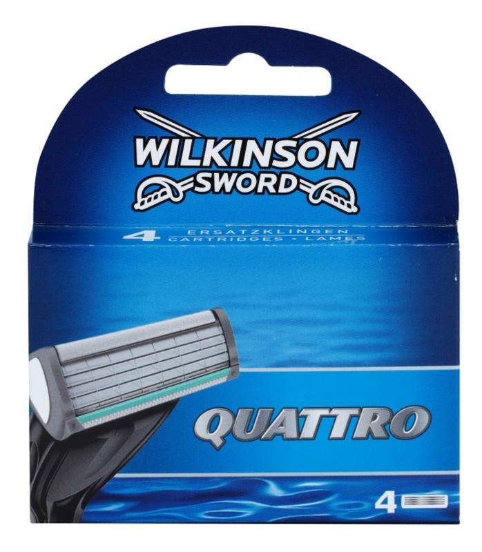 Wilkinson Sword Quattro náhradní břity 4 ks