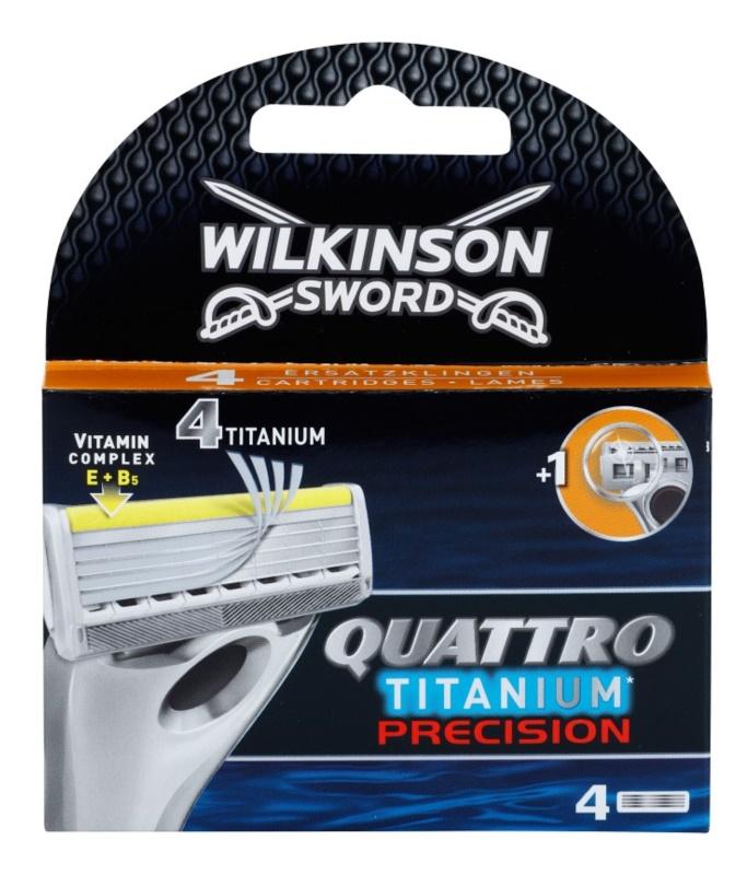 Wilkinson Sword Quattro Titanium Precision náhradní břity 4 ks
