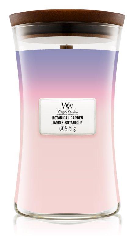 Woodwick Trilogy Botanical Gardens lumânare parfumată  609,5 g cu fitil din lemn