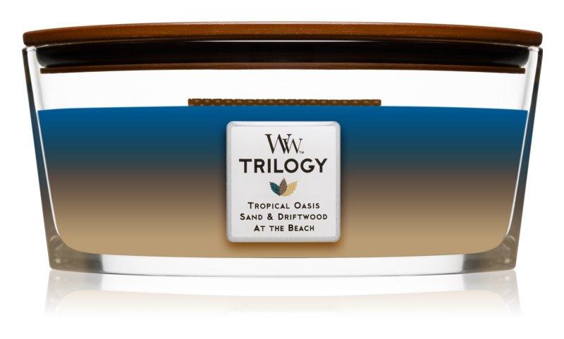 Woodwick Trilogy Nautical Escape vonná svíčka 453,6 g s dřevěným knotem (Hearthwick)