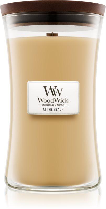 Woodwick At The Beach vonná svíčka 609,5 g velká