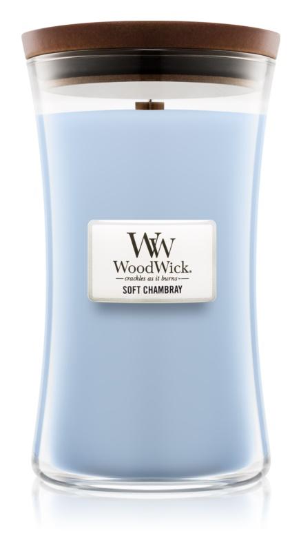 Woodwick Soft Chambray vonná sviečka 609,5 g veľká