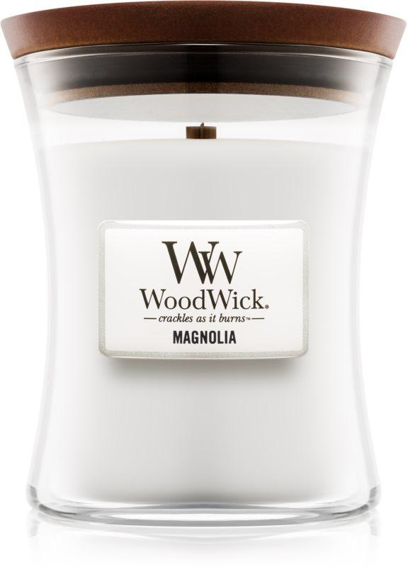 Woodwick Magnolia vonná svíčka 275 g střední