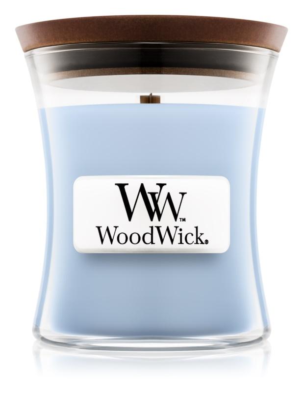 Woodwick Soft Chambray vonná svíčka 85 g malá