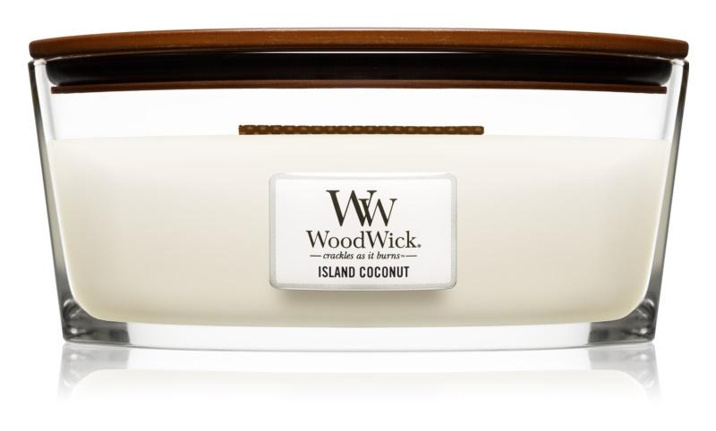 Woodwick Island Coconut ароматизована свічка  453,6 гр з дерев'яним гнітом (Hearthwick)