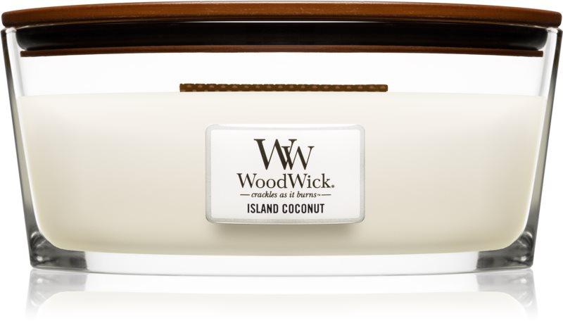 Woodwick Island Coconut ароматна свещ  453,6 гр. Hearthwick