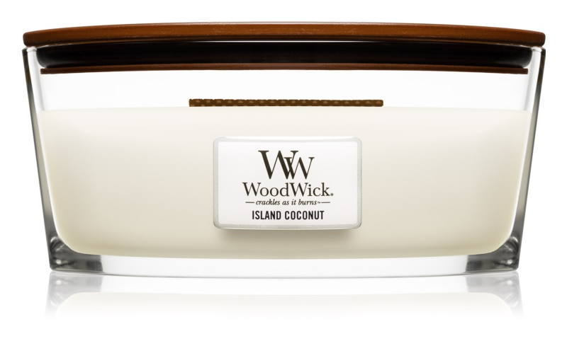 Woodwick Island Coconut Scented Candle 453,6 g Hearthwick