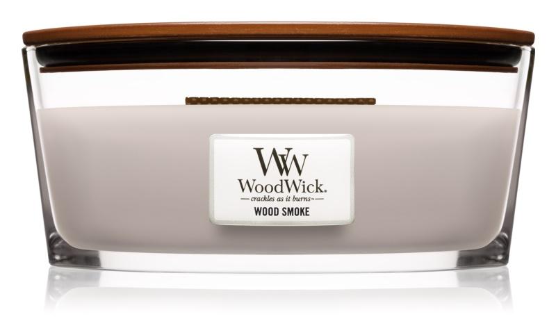 Woodwick Wood Smoke Geurkaars 453,6 gr met een houten lont (Hearthwick)